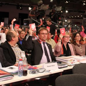 Die Delegation der nordhessischen SPD auf dem Bundesparteitag 2011
