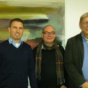 von links Jan-Patrick Witte, Dr. Hartmut Quehl, Siegfried Gedig.